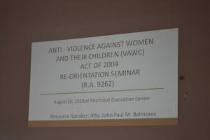 Anti - VAWC Seminar