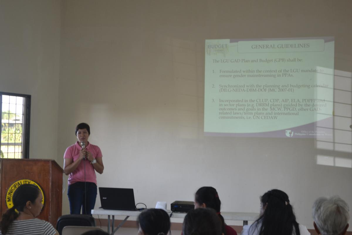 Barangay GAD Planning and Budgeting (Seminar-Workshop