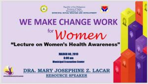 National Women's Month Celebration