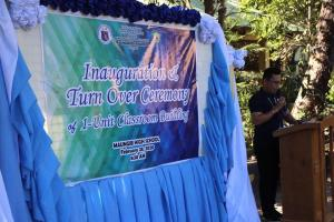 Inauguration & Turn Over Ceremony of Classroom and SHS Work Immersion Culminating Program