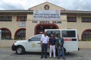 Turn Over of 2 Units Emergency Response Vehicle (Ambulance)  for Brgy. Linao and Singat